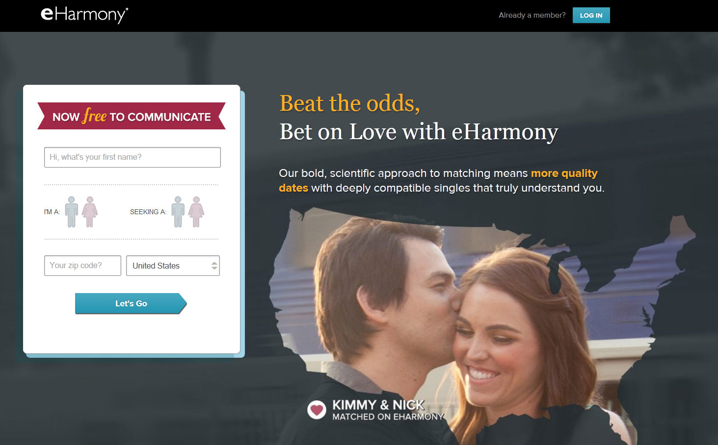 Eharmony login full site